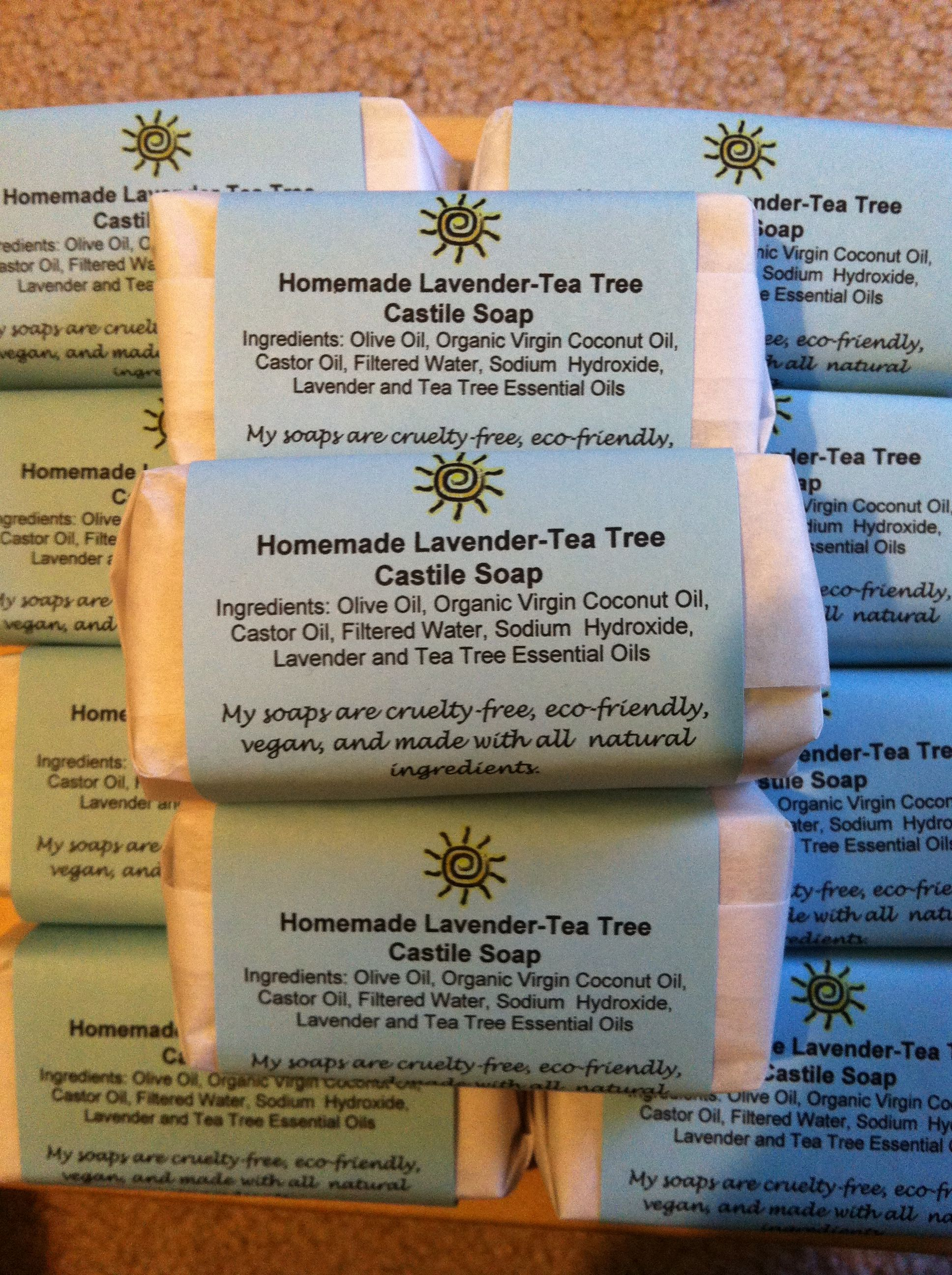 Lavender and Tea Tree soaps for the holidays.