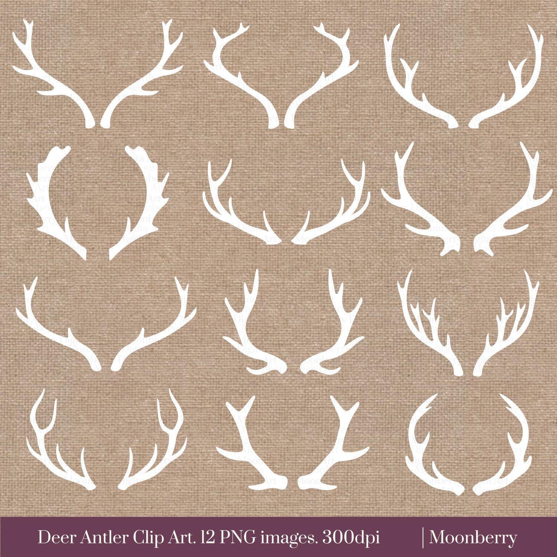 White Deer Antler Clip Art Deer Antler Clipart Deer Horns Clipart White Deer Antlers Horn Clipart Antlers Clip A Antler Tattoos Clip Art Deer Antler Tattoos