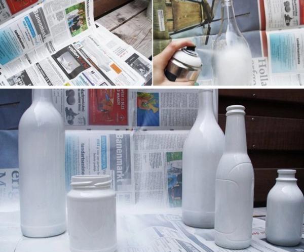 C mo pintar botellas de vidrio 8 pasos con im genes - Manualidades con botellas de cristal ...