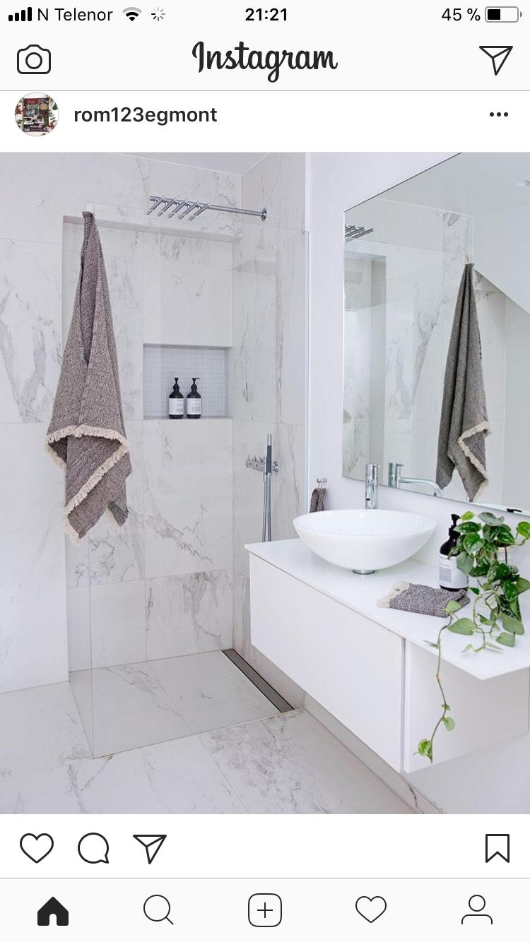 Ypperlig Marmorfliser og innfelt hylle i dusj | Leilighet Hatlevika :D in MG-78