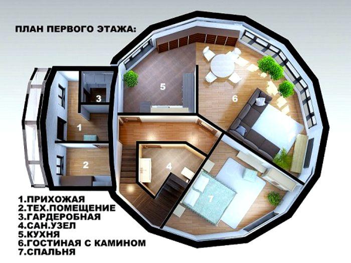восьмиугольный дом проект фото последняя время она