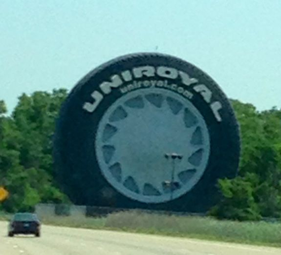 Used Tires Flint Mi >> I 94 In Allen Park Michigan The Uniroyal Tire Built From