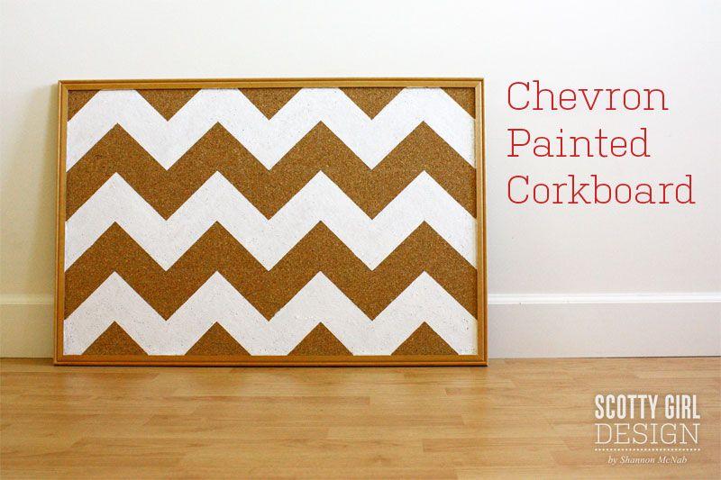 diy cork boards. Scotty Girl Design By Shannon McNab   Enjoy The Journey: DIY: Chevron Painted Cork Board Diy Boards