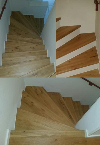 Treppenrenovierung Leimholz Stufen Aus Wildeiche Von Www Deppe24 De Deppe24 Massivholzplatte Leimholzplatten Holzplatten Treppenrenovierung Treppe Treppenstufen