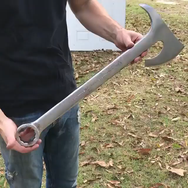 Incredible Awesome Wrench Axe Video Custom Axe Knives And Swords Wrench Knife