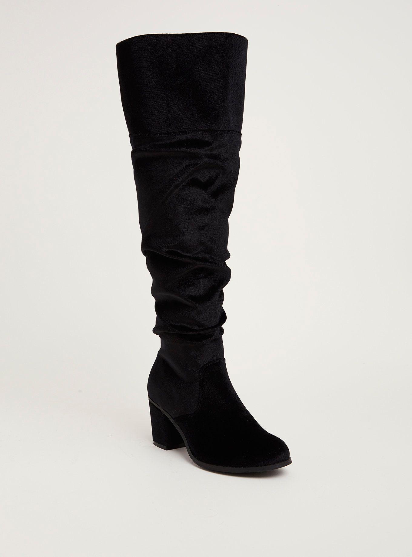 8e36fac5bb9 Velvet Scrunch Over-the-Knee Boots (Wide Width   Wide Calf)
