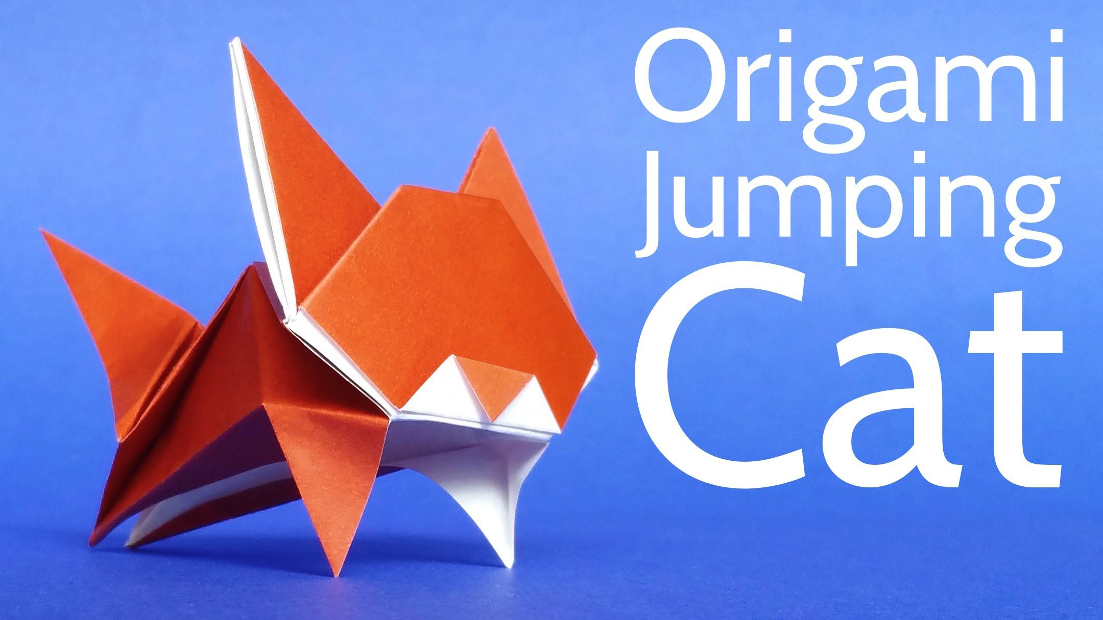 Origami Leaping Cat | 1215x2160