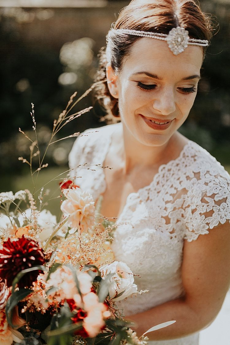 Simply stunning bohemian autumn countryside barn wedding in