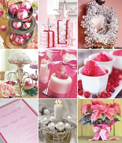 Pink And Silver Winter Wedding