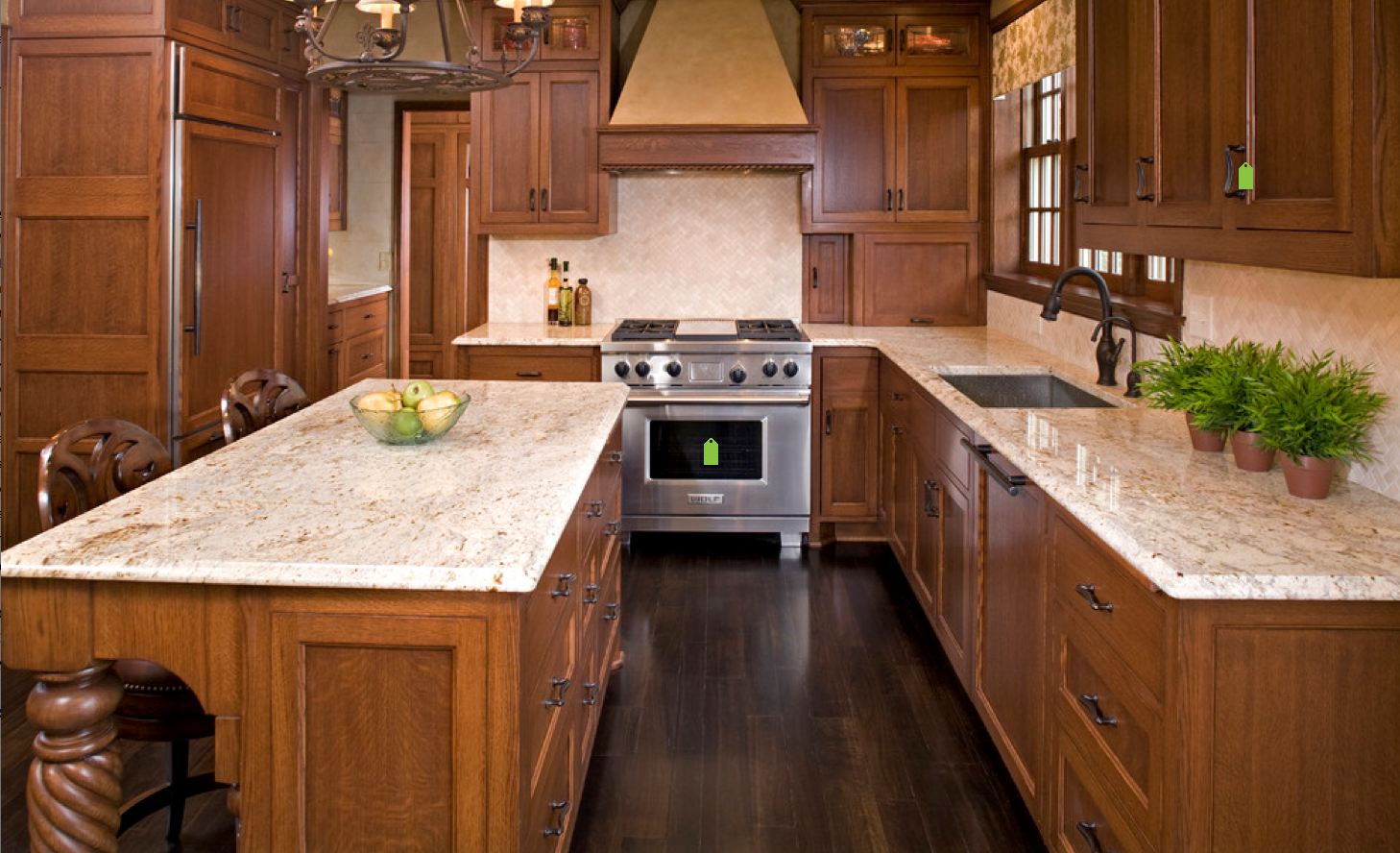 Like The Cabinet Color With Tops Cream With Cinnamon Countertops Kitchen Remodel Countertops Oak Kitchen Kitchen Remodel Small