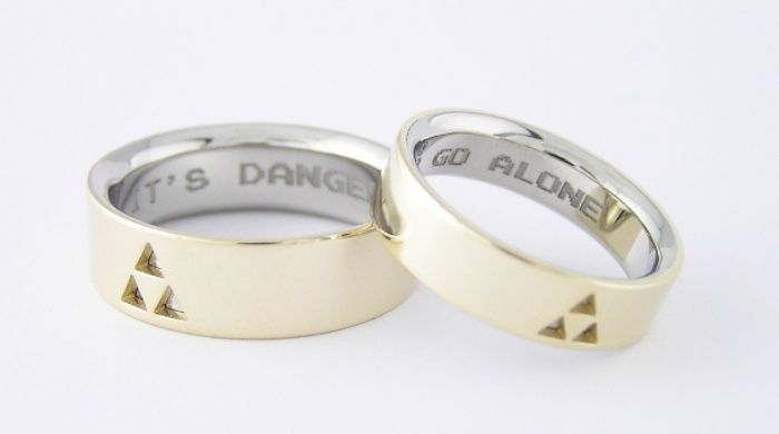 Zelda Wedding Rings pretty cool Inscription reads Its dangerous