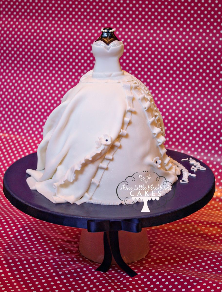 Wedding Dress Cake ~ pretty bridal shower cake! | CAKES DE VESTIDOS ...