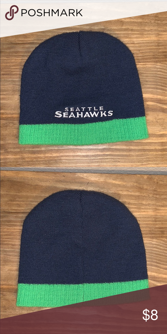 6b789cb02577d9 Seattle Seahawks Beanie Winter Hat No inside tags, but good condition, no  holes or stains. Seattle Seahawks Accessories Hats