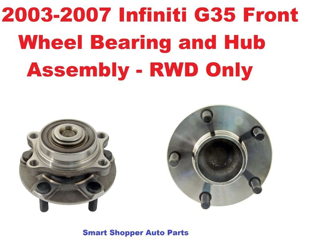 PAIR Front Left And Right Wheel Hub And Bearing fit 1996 1997 1998 ACURA TL With 3.2L V6 Engine ONLY