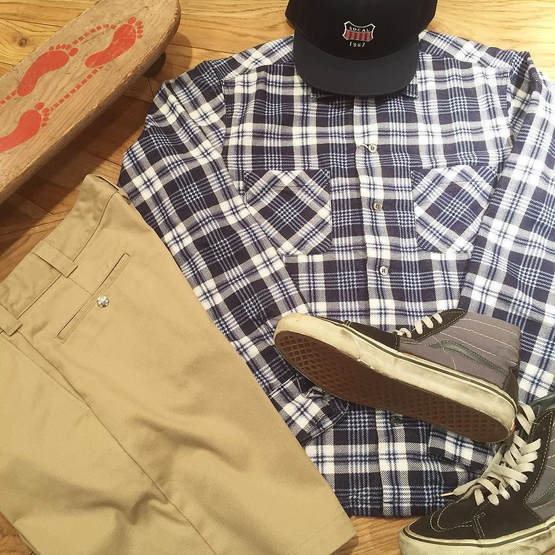 Shorts Style.  #standardcalifornia #スタンダードカリフォルニア #shirt #shorts #cap #vans #vintage