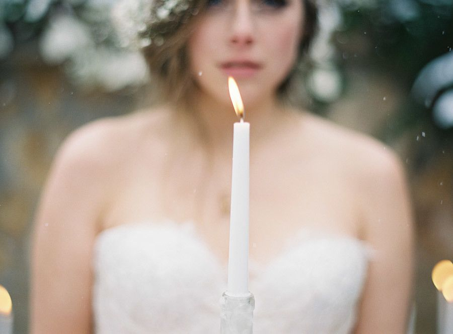 Enchanted Winter Wedding Inspiration by Laura Leslie Photography and Gracie Blue Photography
