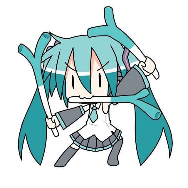 Anime Chibi Manga Hatsune Miku Crossover Life Button Girls Random Things Mint