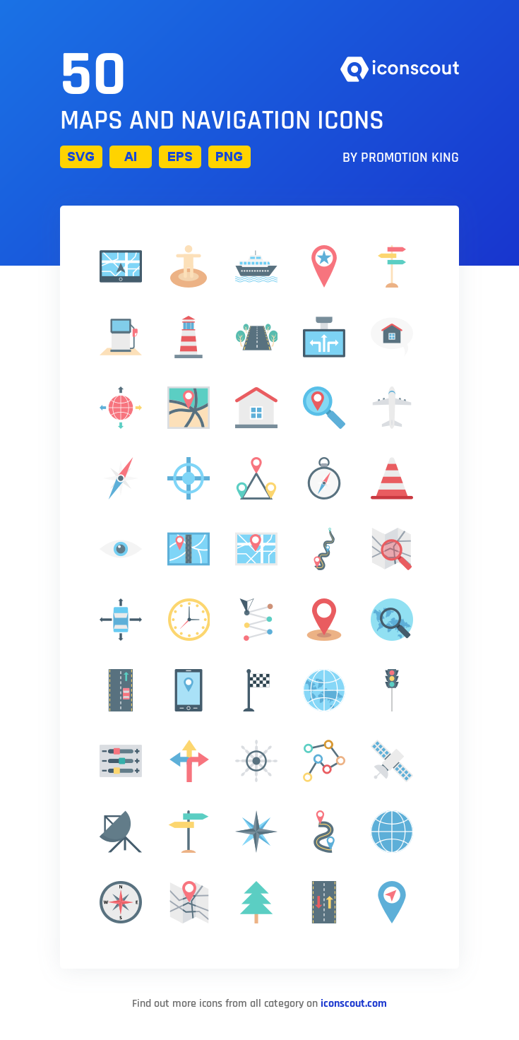 Download Maps And Navigation Icon Pack Available In Svg Png Eps Ai Icon Fonts Map Icon Pack Navigation