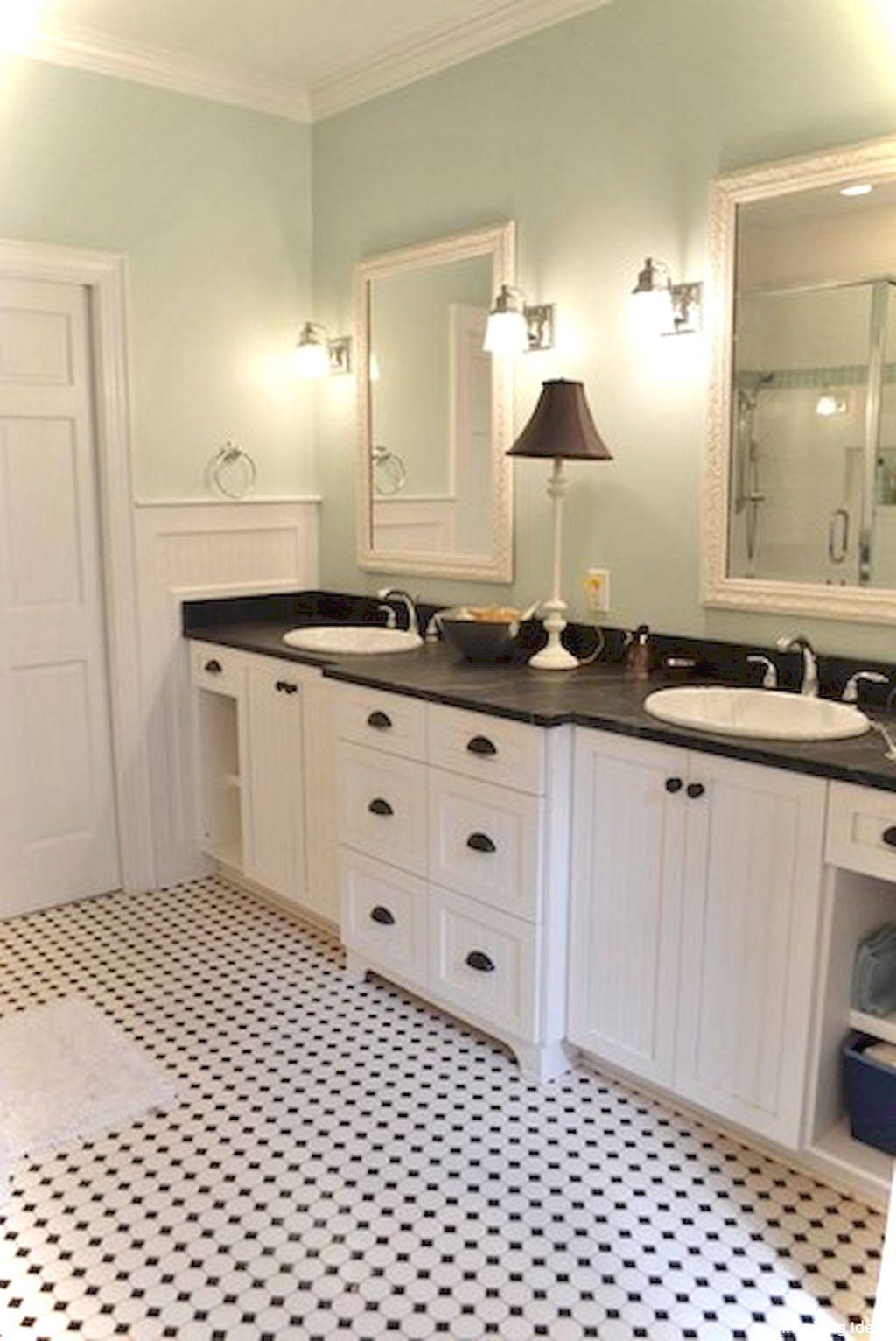 99 Luxury Black And White Bathroom Ideas In 2020 White Bathroom Tiles Cottage Bathroom Coastal Cottage Bathroom
