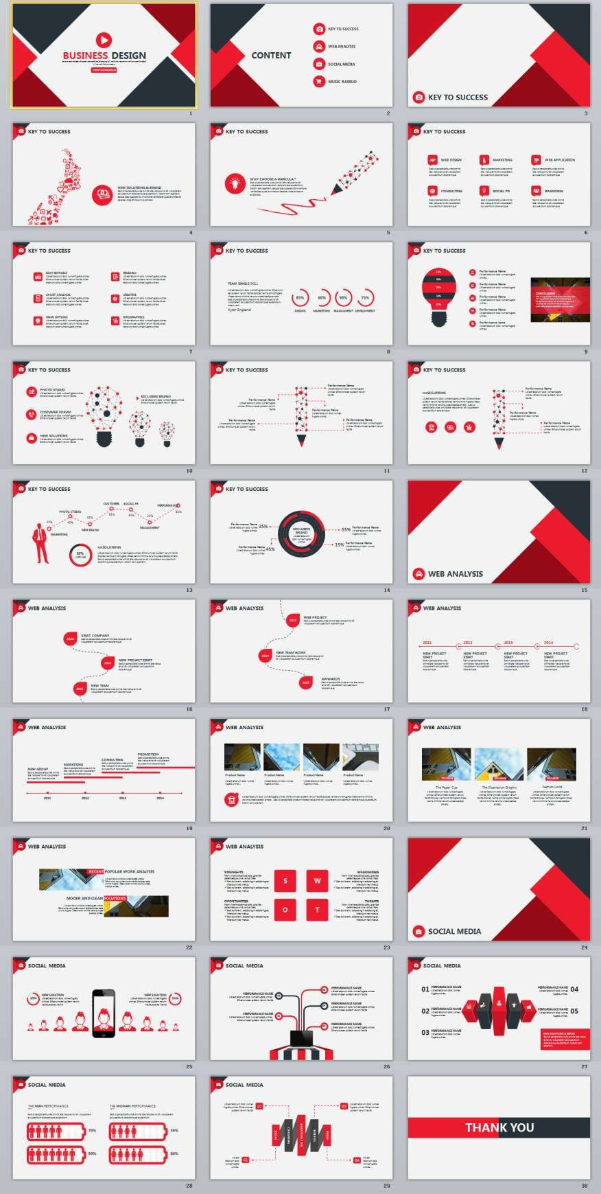 30 red infographics report powerpoint template powerpoint 30 red infographics report powerpoint template alramifo Images