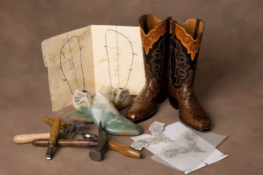 Allen Kango Tabac Ostrich custom boots by Master Craftsman