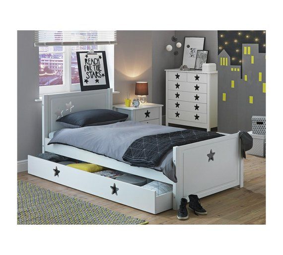 Buy Collection Stars Single Bed With Drawer White At Argoscouk - Argos modular bedroom furniture