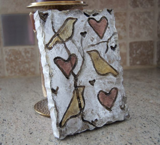 Tile Plaques Home Decor Bird N Heart *artifact Plaque Wall Decor Tile  Mix And Match Wall