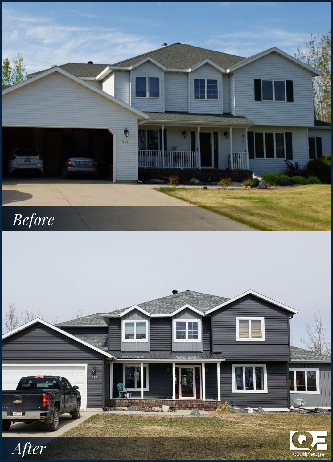 Trucedar Before After In 2020 Steel Siding House Siding Options Siding Options
