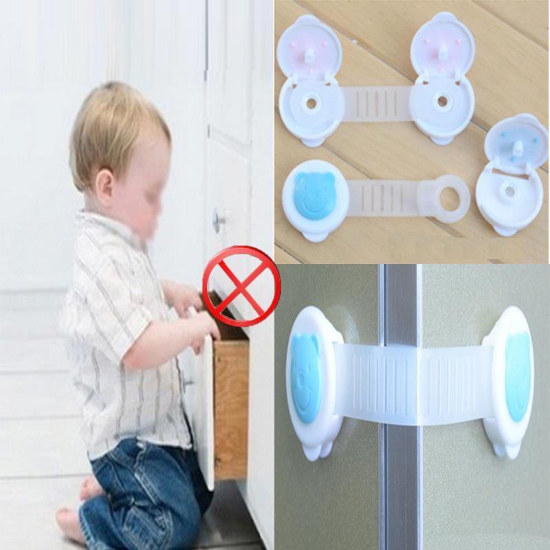 10 قطع البلاستيك الحماية للأطفال الطفل سلامة الطفل قفل الخزانة الأمن قفل الباب قفل سلامة الطفل الطفل كيد السلامة ا Baby Safety Locks Baby Safety Plastic Babies