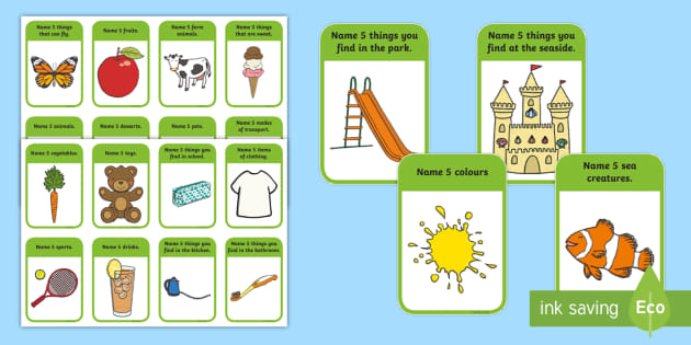 Name 5 Things Categories Card Game Learning A Second Language Card Games Speaking Skills