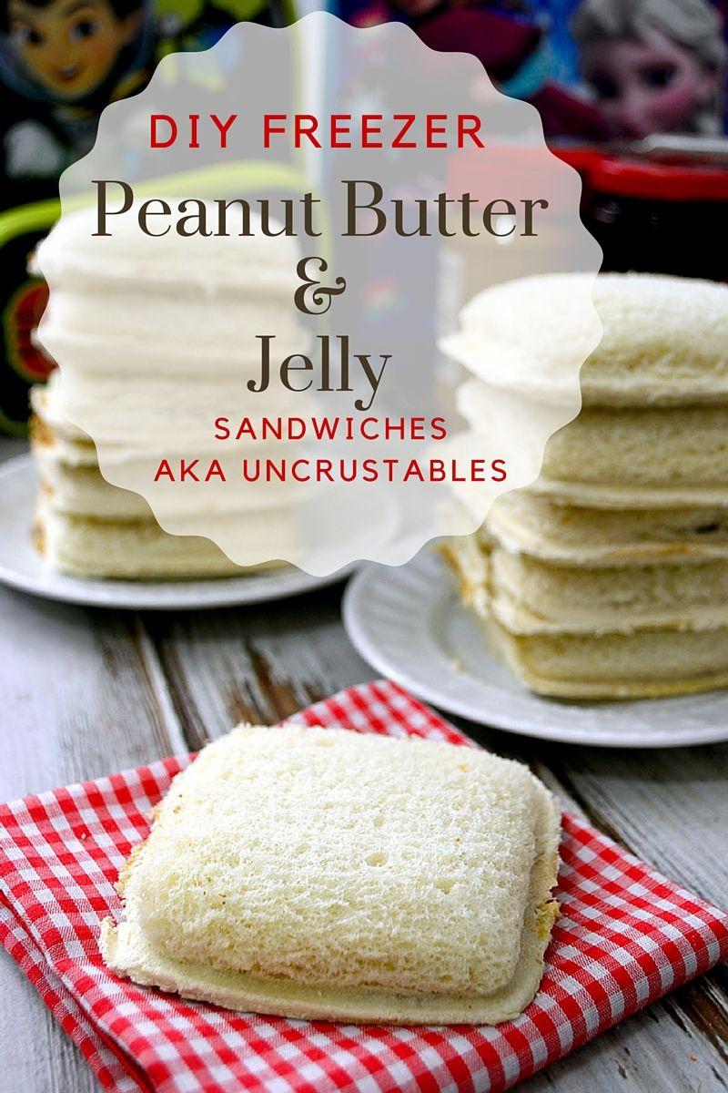 DIY Freezer PB&J Sandwiches
