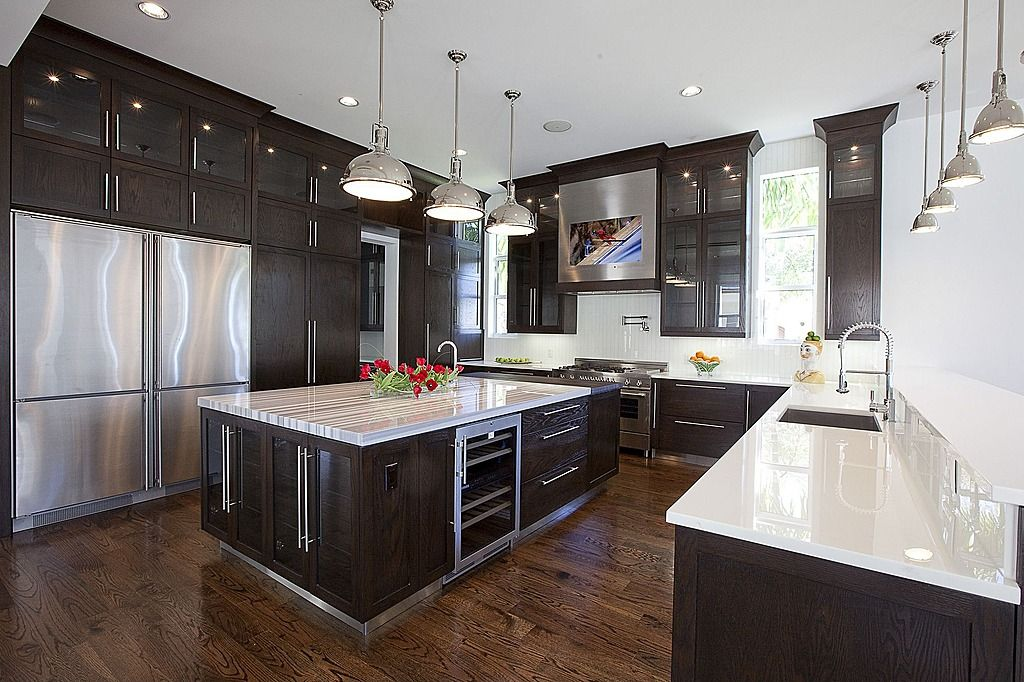 22 Jaw Dropping Small Kitchen Designs: Zillow Digs Trend: Double-wide Fridge And Built-in TV Will