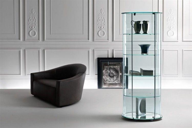 Vitrine Kast Glas : Glazendesigntafel.nl glazen vitrine van fiam in gebogen glas met
