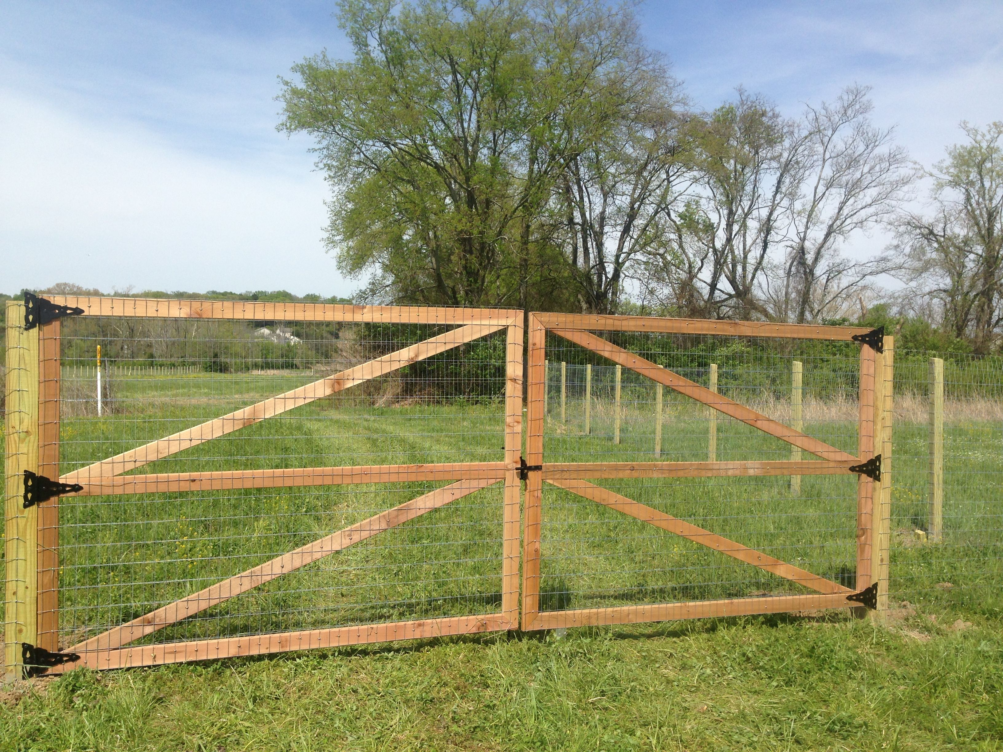welded wire fence with wooden posts - Google Search | Fencing ...