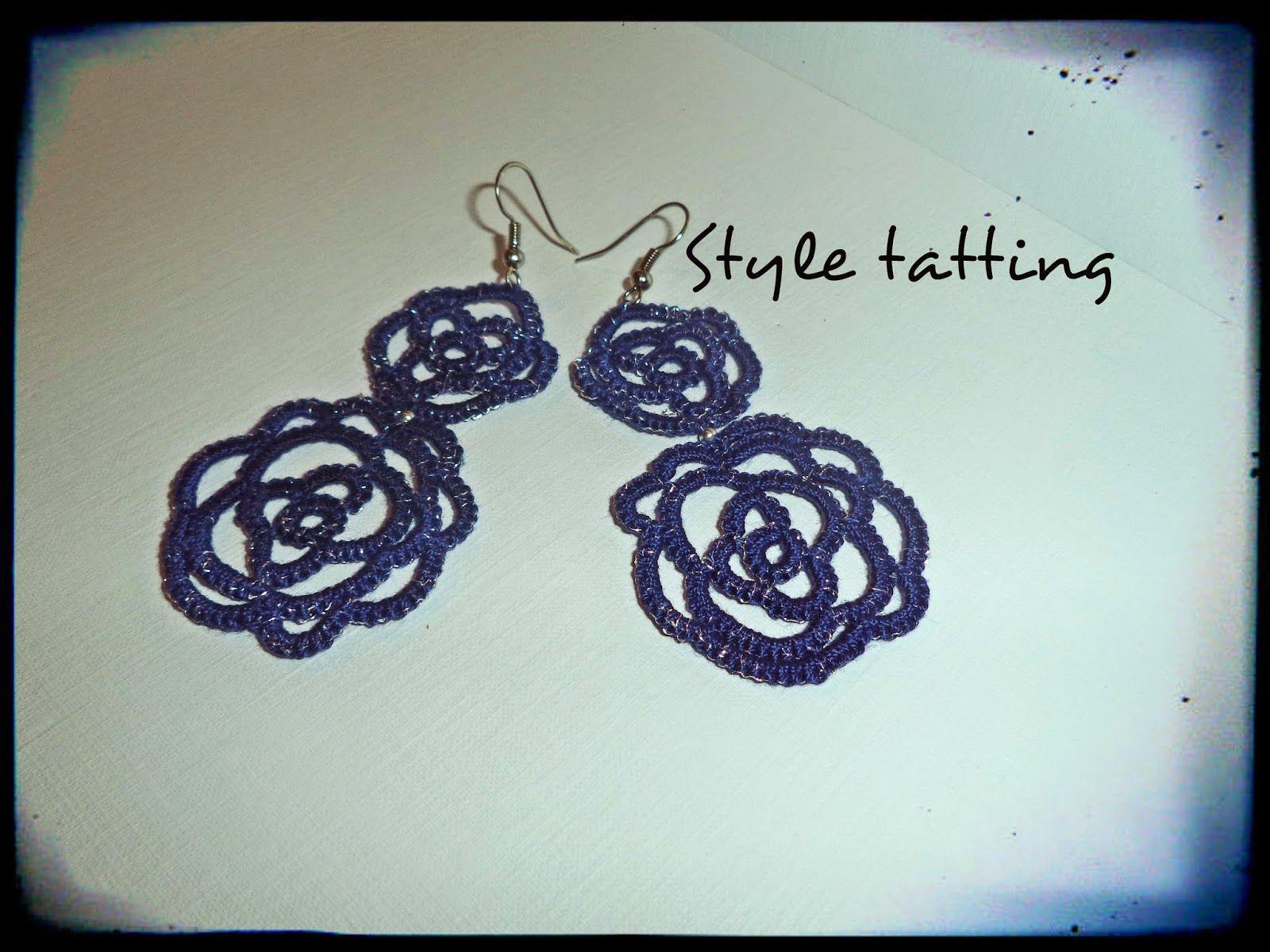 Style tatting: Blue roses
