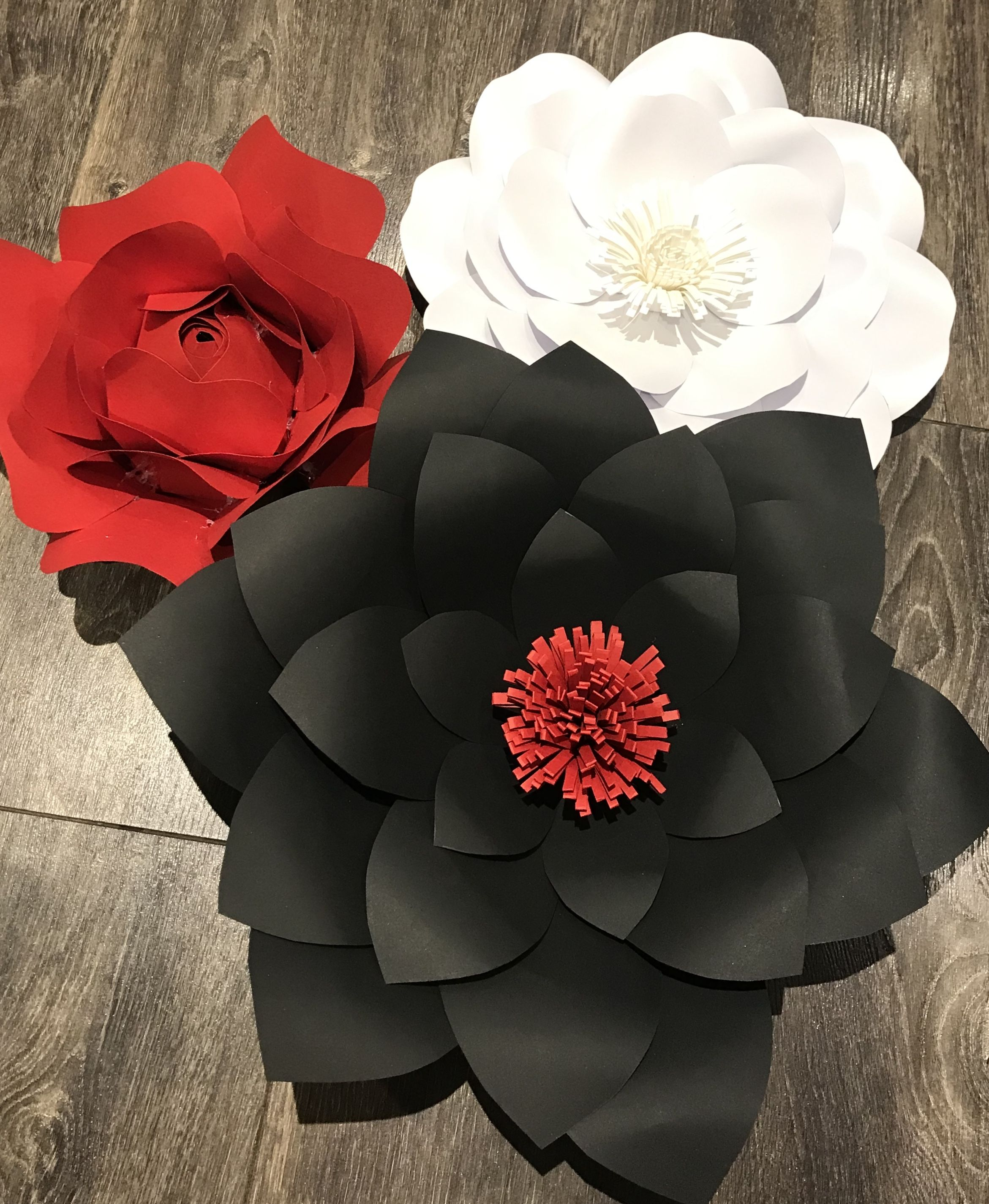 Red Black And White Paper Flowers How Do You Show Your School