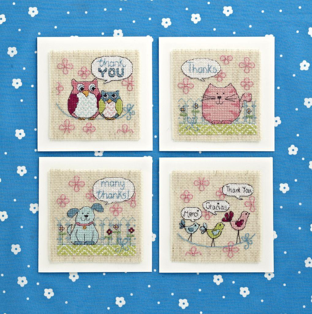 Angela Poole Illustrated Stitched Animal Card Designs Riscos Ponto