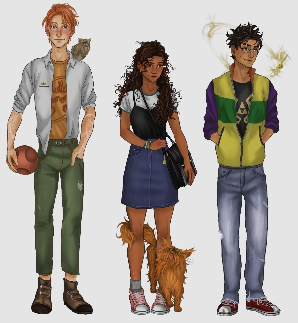 The Golden Trio Harry Potter Characters Harry Potter Artwork Harry Potter Drawings