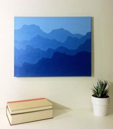 Painting acrylic mountain abstract landscape 26+ ideas for 2019