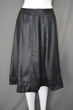 People Like Frank Faux Leather Lame A-line Rare Skirt Black #Alineskirt #boutique #pleather #vegan