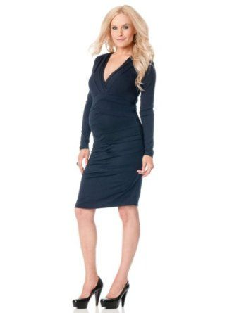 A Pea In The Pod Collection Nicole Miller Long Sleeve Ruched Maternity Dress