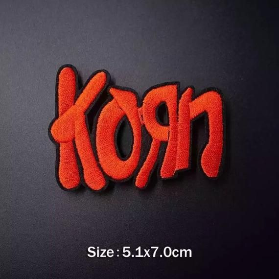 1x KORN Heavy Metal Rock Band Embroidered Iron On Sew On Patch DIY