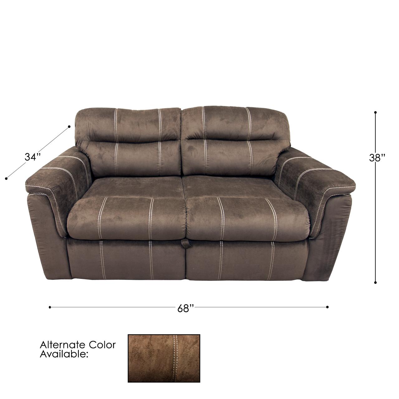 Suede Mocha 68 Rv Sleeper Sofa Parts Nation