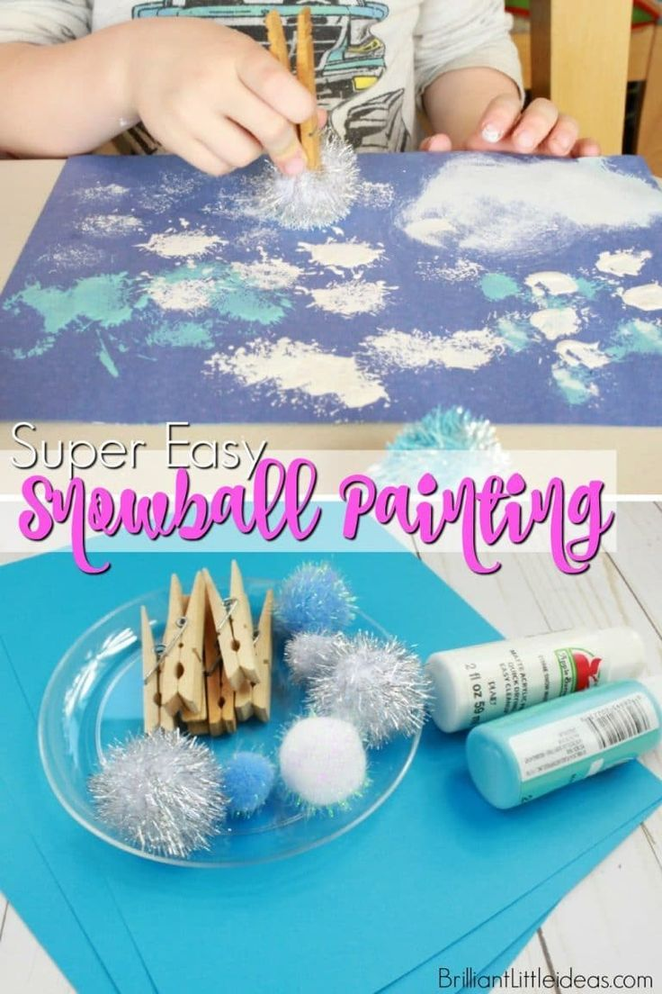 Photo of Super Easy Snowball Painting | Brilliant Little Ideas