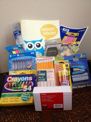 Back to school gift basket cute idea to get the little ones excited back to school gift basket cute idea to get the little ones excited for school negle Gallery