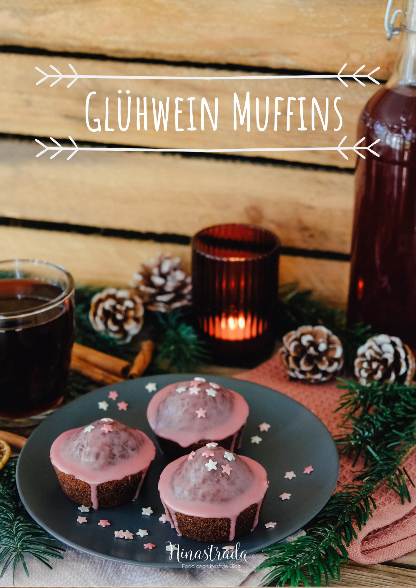 Schokoladige Gluhwein Muffins Food Blog Ninastrada Rezept Muffins Schokoladenmuffins Schokoladen Muffins