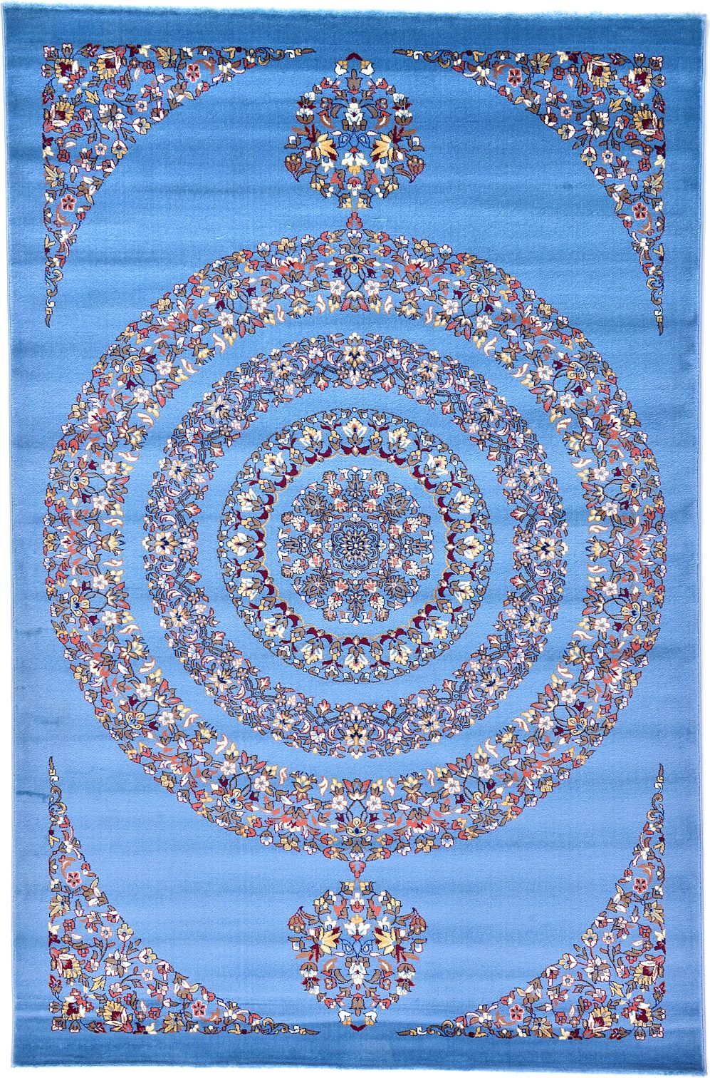 Best Blue Tabriz Design Area Rug Rugs Area Rugs Rugs Mats 640 x 480