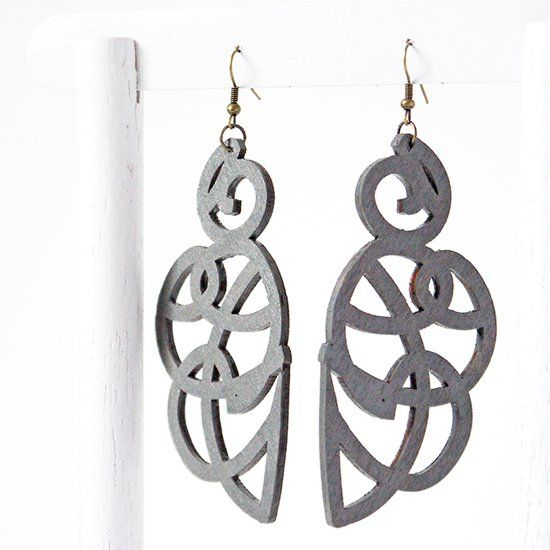 Create Easy Laser Cut Wood Earrings Without A Cutter See How On The Blog