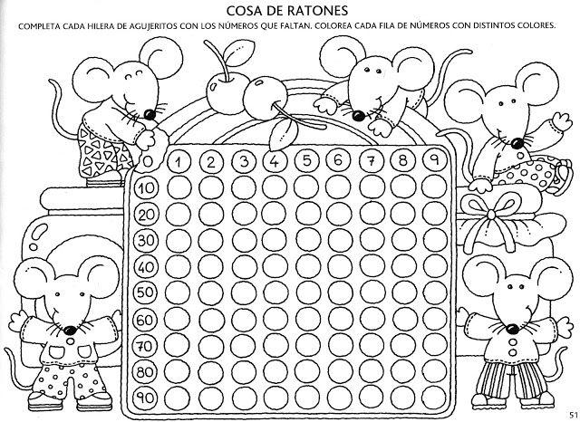 Dibujos Para Colorear Con Numeros Del 1 Al 100: DESCUBRO LOS NÚMEROS DEL 0 AL 100