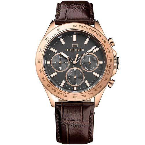 bc588cc3591 Relógio Tommy Hilfiger Masculino Couro Marrom - 1791225